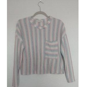 🌵Peach Love California Rainbow Stripe Sweater